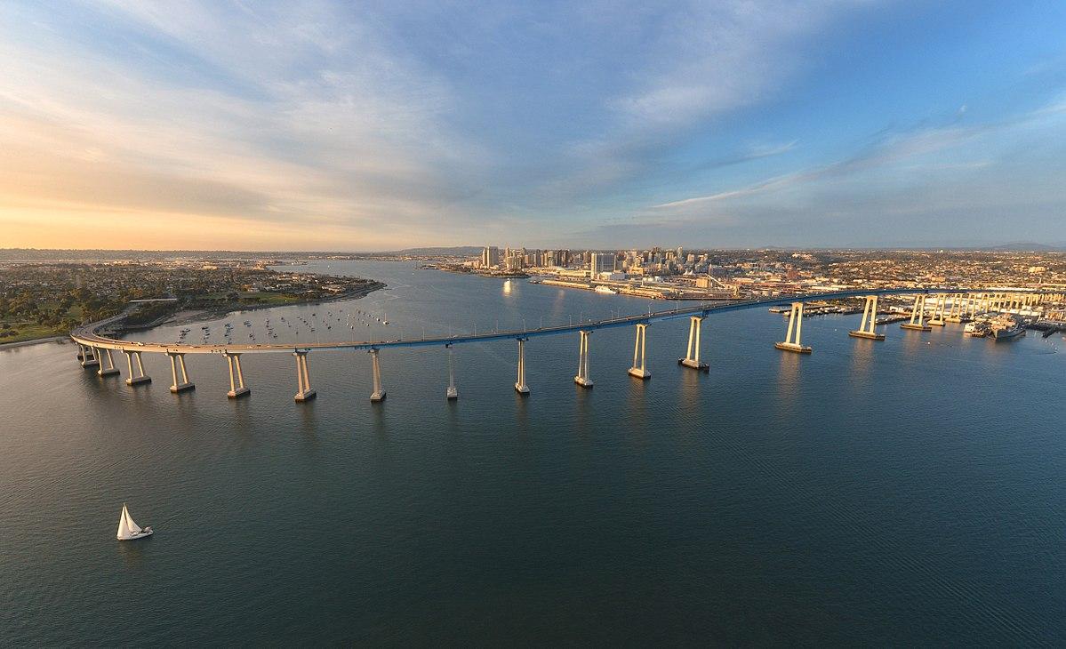 San Diegocoronado Bridge Wikipedia Wiring Besides Traffic Signal Light On Old