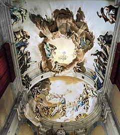 Santa Giustina (Padua) - Chapel of the holy sacrament - Ceiling