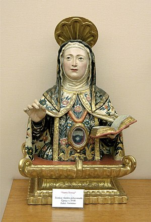 English: Saint Teresa of Avila, reliquary, Pol...