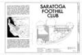 Saratoga Foothill Club, 20399 Park Place, Saratoga, Santa Clara County, CA HABS CAL,43-SARA,2- (sheet 1 of 10).png