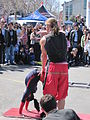 Sardine Family Circus performing at Fisherman's Wharf 2010-03-14 4.JPG