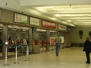Saskatoon John G. Diefenbaker International Airport - Check-in for Pronto, Skyservice, Sunwing, Northwest, and Air Transat