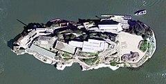 Satellite Image of Alcatraz