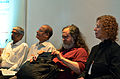 Satish Babu, S. Ramakrishnan, Richard Stallman and Nina Paley at Swatantra 2014, Thiruvananthapuram.JPG