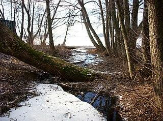 Sätraån river in Sweden