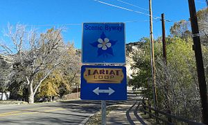 Scenic Byway, Lariat Loop sign, Morrison, CO.jpg