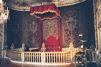 Royal bedroom in the Residenz Palace, Munich, ...