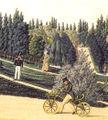 Schlossgarten und Schloss Mannheim v J P Karg 1819 mit Draisine.jpg