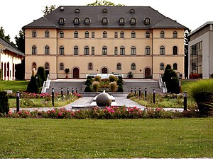 Lichtenstein, Saxony - The rear façade of the palace in Lichtenstein.
