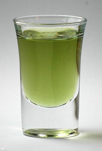 Chartreuse (color) - Green Chartreuse liqueur