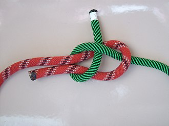 Sheet bend - Image: Schotstek links
