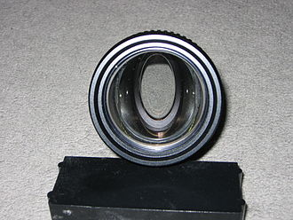 Anamorphic format - The aperture of the lens (the entrance pupil), as seen from the front, appears as an oval.
