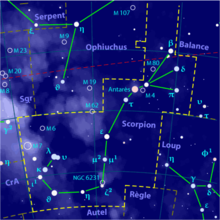 Description de l'image Scorpius constellation map-fr.png.