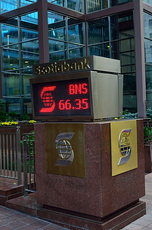 Scotiabank - Scotiabank traded under ticker BNS on TSX and NYSE.