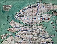 Skotlando de la Matthew Paris-mapo, c.1250.jpg