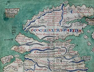 History of Scotland - Scotland from the Matthew Paris map, c. 1250