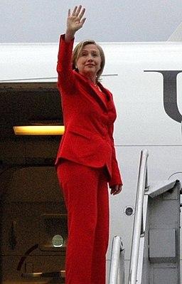 Secretary Clinton Waves Goodbye to Quito, Ecuador (4686571308) (cropped)