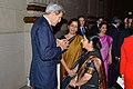 Secretary Kerry Greets Indian External Affairs Minister Swaraj andIndian Minister of State for Commerce and Industry Sitharaman at the U.S.-India Strategic and Commercial Dialogue Leadership Summit Reception (21616988362).jpg