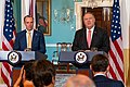 Secretary Pompeo Participates in a Joint Press Availability With United Kingdom Foreign Secretary Raab (48481854026).jpg
