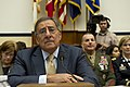 Secretary of Defense Leon E. Panetta, left, pauses during his testimony to the House Armed Services Committee at the House of Representatives in Washington, D.C., Oct. 13, 2011 111013-D-BW835-006.jpg