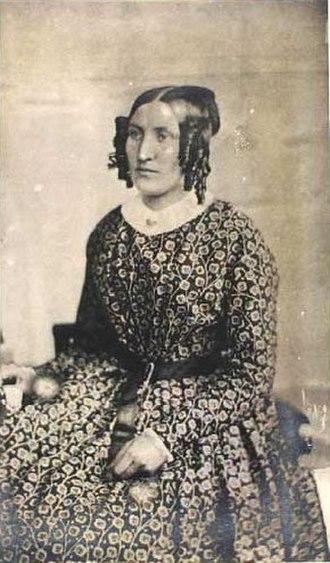Thora Hallager - Thora Hallager, self-portrait (1866)