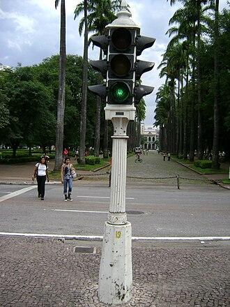 Praça da Liberdade - Image: Semáforo