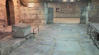 Decumanus Maximus - Decumanus Maximus  with the East gate of Serdica, modern day Sofia, Bulgaria