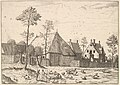 Shed with Cottage, from The Small Landscapes MET DP825678.jpg