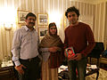 Shehzad Roy and Malala Yousafzai at the Nobel Peace Prize Ceremony.JPG