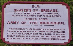 Pillow Flying Artillery - Battery marker near Shiloh Battlefield