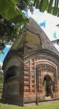 Shiva Temple or Khitish Chondro Moth, Krishnapur, Puthia 07.jpg