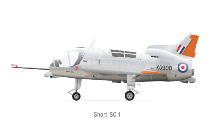 The RAF serial (XG900) on the Short SC.1 Short SC.1.png