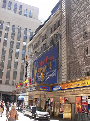Shubert Theatre (New York City) - Shubert Alley facade, 2007