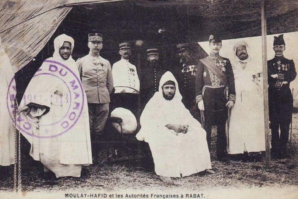 Si Kaddour ben Ghabrit et le sultan Moufay Hafid