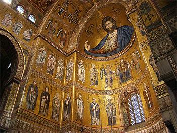 mosaici dellabside con il Cristo Pantocratore