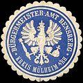 Siegelmarke Bürgermeister-Amt Bensberg - Kreis Mülheim am Rhein W0259990.jpg