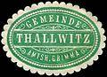 Siegelmarke Gemeinde Thallwitz - Amtshauptmannschaft Grimma W0252339.jpg