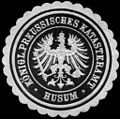 Siegelmarke Königlich Preussisches Katasteramt - Husum W0233572.jpg