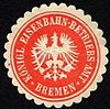 Siegelmarke Königliche Eisenbahn - Betriebs - Amt - Bremen W0229484.jpg