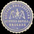 Siegelmarke K. Pr. 2te Fuss-Artillerie Brigade W0384997.jpg