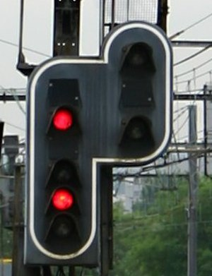 French railway signalling -  Carré: stop
