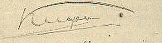 Abraham Kuyper - Image: Signature Kuyper