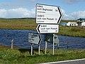 Signpost at Bayhead - geograph.org.uk - 708781.jpg