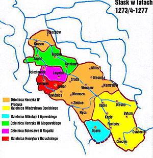Duchy of Silesia - Image: Silesia 1273 1277
