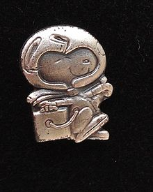 NASA Silver Snoopy award, sterling silver lapel pin (tie tac), flown aboard Space Shuttle Discovery's STS-116 mission.