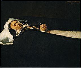 Le Père Simon de Rojas sur son lit de mort
