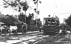 Singapore tram, Upper Serangoon Road, 1900.jpg