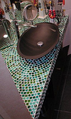 Sink - bathroom - mosaic glass.jpg