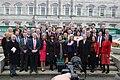 Sinn Féin MPs, MLAs & TDs gather ahead of the Dáil100 event (46112402304).jpg