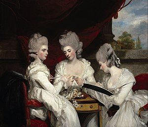 Maria, Duchess of Gloucester and Edinburgh - The Ladies Waldegrave by Sir Joshua Reynolds (L to R: Charlotte, Elizabeth and Anna)